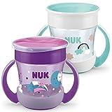 NUK Mini Magic Cup Trinklernbecher 2er-Pack | auslaufsicherer 360°-Trinkrand | ab 6 Monaten |...