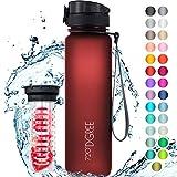 """720°DGREE Trinkflasche """"uberBottle"""" softTouch +Früchtebehälter - 1L - BPA-Frei -..."""