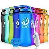 ZORRI Sport Trinkflasche auslaufsicher, BPA Frei & Umweltfreundlich Wasserflasche Für Kinder &...