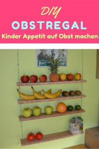 DIY obstregal für kinder