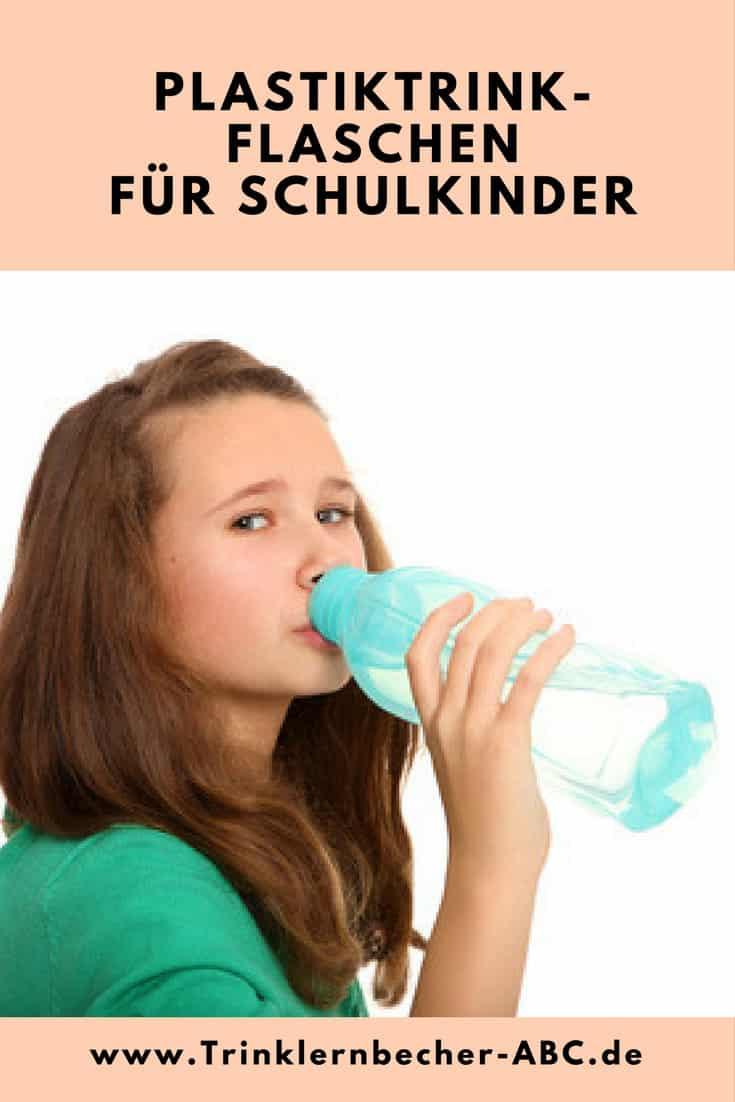 Plastiktrinkflaschen für Schulkinder
